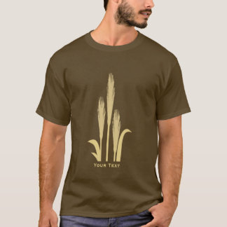Golden Grains of Wheat Mens Long Sleeve Brown T T-Shirt