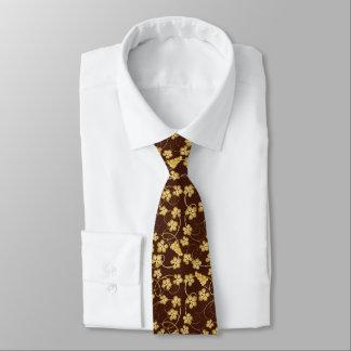 Golden Grapevine Pattern Tie