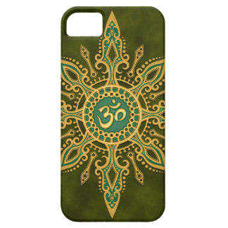 Golden Green Aum Star iPhone 5 Covers