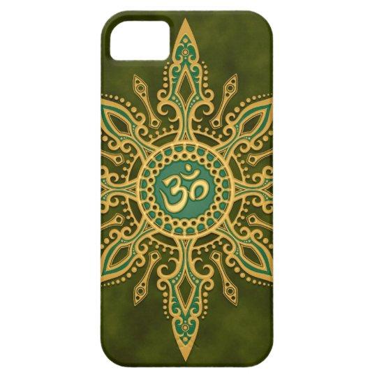 Golden Green Aum Star iPhone 5 Covers