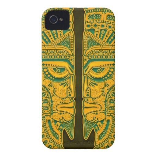 Golden Green Aztec Twins Blackberry Bold Cases
