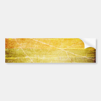 GOLDEN GREEN RED BROWN STRIPES TEMPLATE VINTAGE TE CAR BUMPER STICKER
