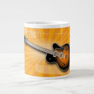 Golden Grunge Burst Guitar Specialty Mug Jumbo Mug