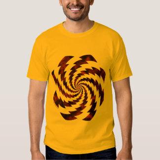 Golden grunge rotated lightning shirt