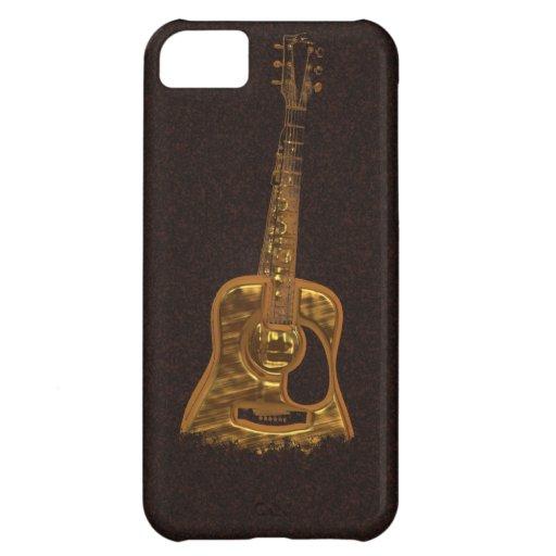 Golden Guitar Music Instrument Phone Case iPhone 5C Cover