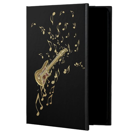 Golden Guitar n Notes Personalised iPad Air 2