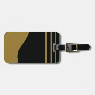 Golden Guitar Personalized Luggage Tag