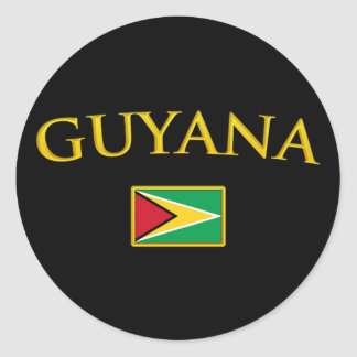 Golden Guyana Classic Round Sticker