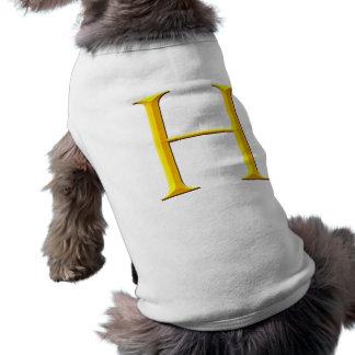 Golden H Monogram Sleeveless Dog Shirt