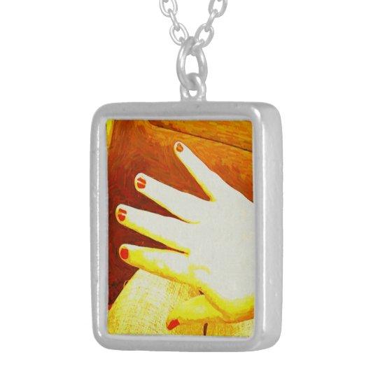 Golden Hand Necklace
