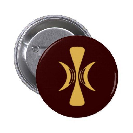 Golden Hand of Eris Pinback Button