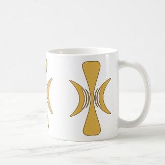 Golden Hand of Eris Basic White Mug