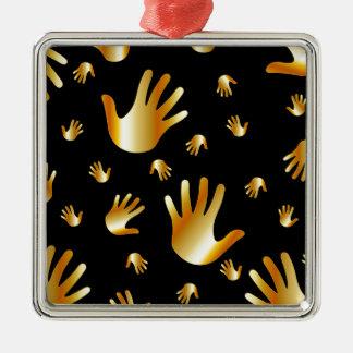 golden hands christmas ornament