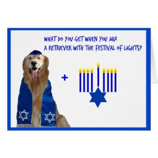 Golden Hanukkah Glow Greeting Card