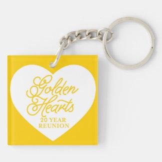 Golden Heart 20 Year Reunion Logo Acrylic Keychain
