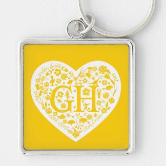 Golden Heart Class Reunion Logo Keychain