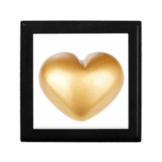 Golden heart gift box