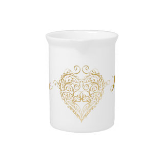 Golden Heart Illustration Pitcher