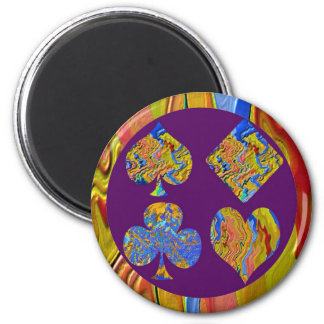 Golden Heart  - Poker Champion 6 Cm Round Magnet
