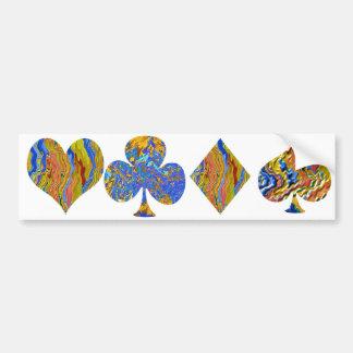 Golden Heart  - Poker Champion Bumper Sticker