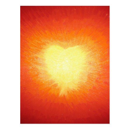 Golden Heart Postcard