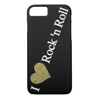 golden heart rock'n' roll iPhone 8/7 case
