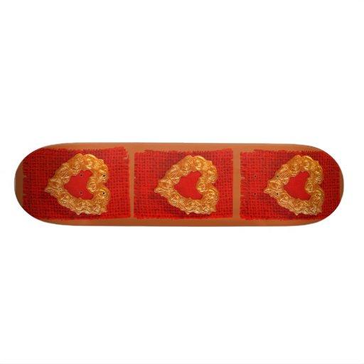 Golden Heart Custom Skate Board