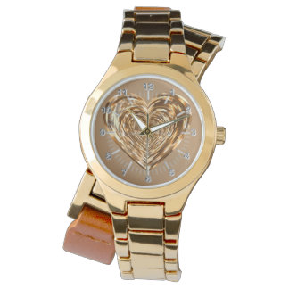 Golden heart watch