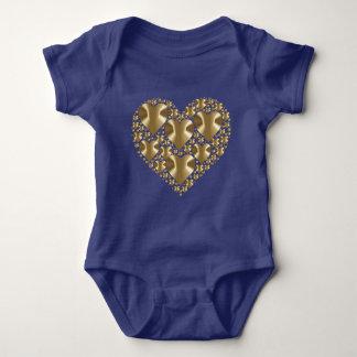 Golden hearts baby bodysuit
