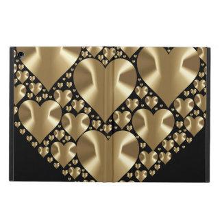 Golden hearts iPad air case