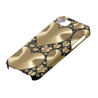 Golden hearts iPhone 5 case