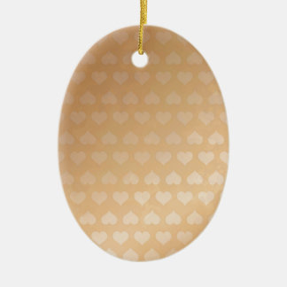 GOLDEN Hearts Light Shade by NAVIN JOSHI Gifts Ceramic Oval Decoration
