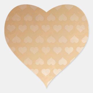 GOLDEN Hearts Light Shade by NAVIN JOSHI Gifts Heart Sticker