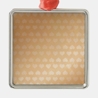 GOLDEN Hearts Light Shade by NAVIN JOSHI Gifts Silver-Colored Square Decoration
