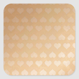 GOLDEN Hearts Light Shade by NAVIN JOSHI Gifts Square Sticker