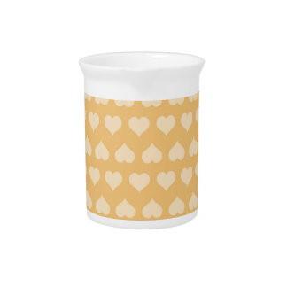 GOLDEN Hearts Pattern Beverage Pitchers