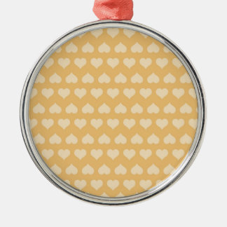 GOLDEN Hearts Pattern Ornaments