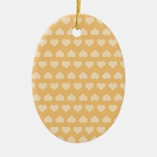 GOLDEN Hearts Pattern Ceramic Oval Decoration