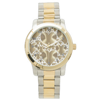 Golden hearts watch