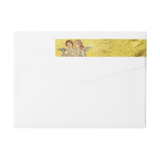 Golden Heavenly Singers Wraparound Return Address Label