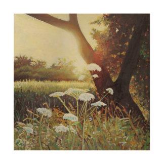 Golden hedgerow I 2014 Wood Print