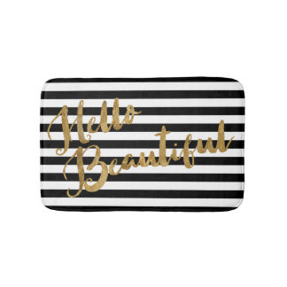Golden Hello Beautiful Stripes Bath Mat