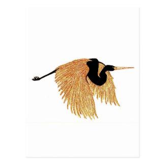 Golden Heron Postcard