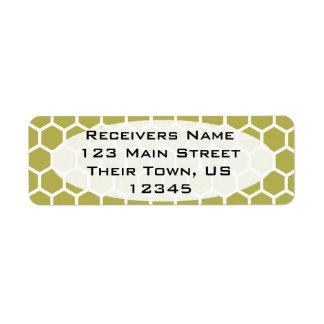 Golden Hexagon 2 Return Address Label