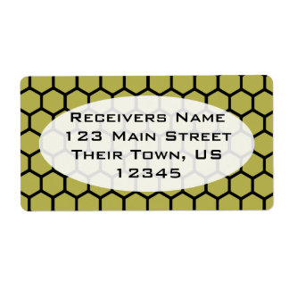 Golden Hexagon 4 Shipping Label