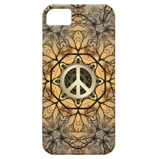 Golden Hexagon Forest Peace Sign iPhone 5 Case