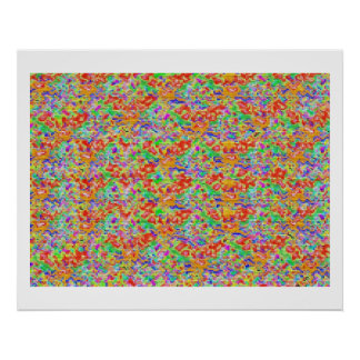 Golden High Energy Color Theraphy Jewel Poster