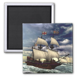 Golden hind square magnet