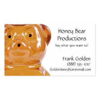 Golden Honey Bear Pack Of Standard Business Cards