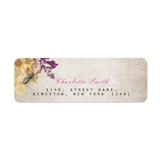 Golden Honeycomb Bee Vintage Return Address Labels